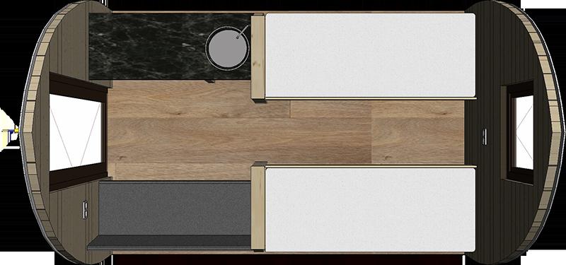 Chalet Woodlodge voorbeeld 1 - Plattegrond